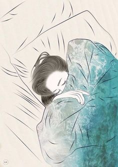 """""""But better to get hurt by the truth than comforted with a lie."""" -Khaled Hosseini artist yet unknown Drawing Sketches, Art Drawings, Sleeping Drawing, Girl Sleeping, Buch Design, Art And Illustration, Art Inspo, Art Girl, Art Photography"""