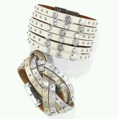 Theo & Harlow Blonde leather cuffs from the Femme Fatale Collection from Brighton...LOVIN these!!!! <3