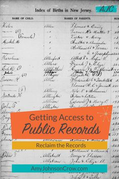 There are times when records that are supposed to be public are being restricted by the office that holds them. Learn about Reclaim the Records, an organization fighting for access, a cause of vital importance to and Vital Records, Public Records, Genealogy Research, Family Genealogy, My Family History, American War, Ancestry, The Past, About Me Blog