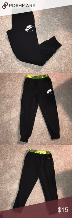 Nike Joggers Nike Joggers youth Medium. Has draw string. A bit faded.  No holes or rips. Nike Bottoms Sweatpants & Joggers
