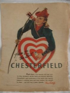 1941 Magazine Advertisement Chesterfield by TheIDconnection, $15.00