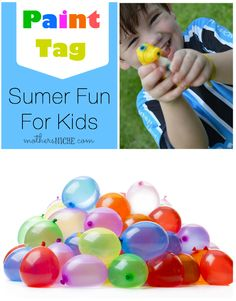Really Fun Boredom Buster and perfect for birthday parties and other summer get togethers