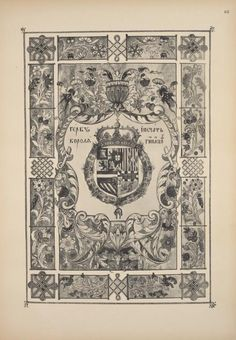 Coat of arms and the seal of the King of Spain