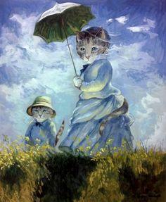 Femme à l'Ombrelle (Claude Monet) by Susan Herbert