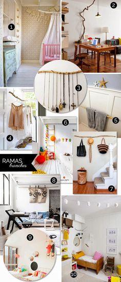 1 rama, 10 usos (o una de ¡creatividad al poder!) · 1 branch, 10 purposes (lots of creativity involved)