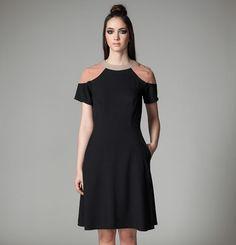 Robe Olimpia Jennifer Glasgow / Olimpia Dress Jennifer Glasgow Glasgow, Couture, Cold Shoulder Dress, Collection, Black, Dresses, Fashion, Dress, Vestidos