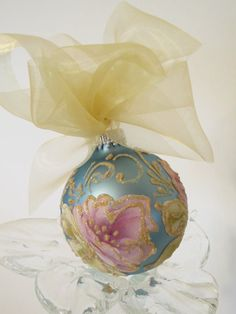 Hand Painted Christmas Ornament by by MontanaRosePainter on Etsy, $8.00