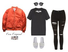 """""""Views"""" by ownoriginal ❤ liked on Polyvore featuring Topshop, Givenchy, Christian Dior and Puma"""