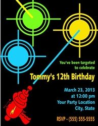 Laser tag birthday invitation personalized invitation birthdays birthday invitation laser tag filmwisefo Images