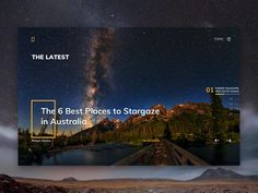 Natgeo Website Layout designed by Paarth Desai. Connect with them on Dribbble; Travel Website Design, Website Design Layout, Web Layout, Layout Design, Website Design Inspiration, Screen Cards, Australia Pictures, Web Design, Picture Story