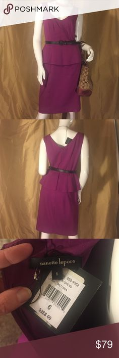 NWT 💖NANETTE LEPORE 💜Raspberry Peplum S/S dress New Nanette Lepore classic Peplum dress in a lovely purple/pink blend color. Absolutely beautiful and so well-made. This dress is fully lined and is 66% viscose, 25% nylon, 9% elastane. I bought it to wear to a business event & ended up wearing something else so this has been in my closet with the tags still on it! Tragic! My loss is your gain! Paid $268. Nanette Lepore Dresses Midi