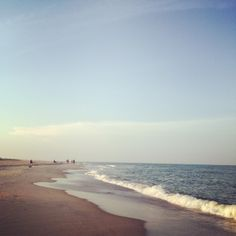 """View of East Beach from the point at Cape Fear, Bald Head Island, NC during the """"golden hour"""". I stayed at nautical nonsense. Bald Head Island, Cape Fear, Bald Heads, Beautiful Lights, Golden Hour, Beautiful Beaches, Nautical, Memories, Water"""