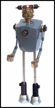 Guy Robot - Bongo - Everybody loves Bongo. He's just one of those truly friendly types you feel lucky to know. He's funny, modest, a good listener, and always generous with his time. He volunteers at the retirement center teaching tap-dance and yodeling, and he's great with kids. Bongo is entirely metric and extremely low voltage.
