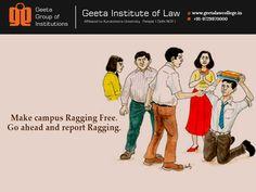 #Quote #AvoidRagging #GeetaInstituteofLaw #AdmissionOpen2016