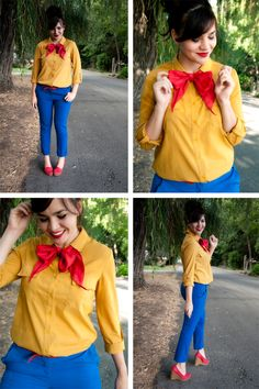 """she's adorable. This would be a great """"Snow White"""" inspired outfit! ~via Wearing It On My Sleeves blog"""