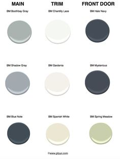 New Exterior Paint Colora For House Bungalow Shutters 15 Ideas Exterior Color Schemes, Paint Color Schemes, Exterior Paint Colors, Exterior House Colors, Paint Colors For Home, Paint Colours, Exterior Design, Cottage Exterior, House Paint Exterior
