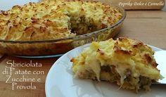 La Sbriciolata di Patate con Zucchine e Provola è un piatto unico, semplice e gustoso. Un gateau di patate alle verdure, diverso dal solito!