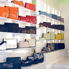 ROSSI Design Ltd Swiss Design, Valance Curtains, Shoe Rack, Leather Bag, Recycling, Wallets, Home Decor, Style, Fashion