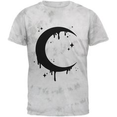 Amazon.com: Halloween Dripping Crescent Moon Mens T Shirt Crackle Moss... ($24) ❤ liked on Polyvore featuring men's fashion, men's clothing, men's shirts, men's t-shirts, mens tie dye shirts, mens t shirts, mens tie dye t shirt and mens tie dyed t shirts