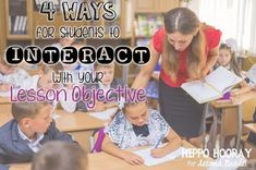 Do you display your daily lesson objectives? Learn four quick and easy ways for your students to interact and personalize their learning targets. Not just wallpaper in your classroom anymore!