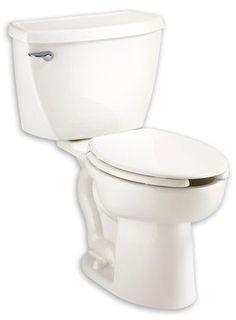 American Standard 2467.016.020 Cadet Right Height Elongated Pressure Assisted Two Piece Toilet, White