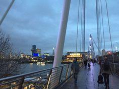 London river Thames and bridge to south Bank
