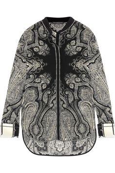 Alexander McQueen - Paisley-print Silk Crepe De Chine Blouse - Black - IT