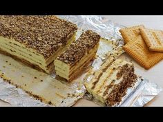 No bake biscuit cake with pudding (recipe + video) - happy foods tube No Bake Biscuit Cake, Biscuit Dessert Recipe, Chocolate Biscuit Cake, Biscuit Pudding, Pudding Cake, Chocolate Desserts, No Bake Cake, Pudding Recipes, Cake Recipes