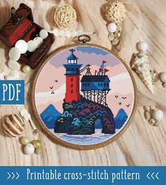 I've fallen somewhat in love with the cross stitch designs of Check out her Etsy store her Free Cross Stitch Charts, Cross Stitch Heart, Cute Cross Stitch, Modern Cross Stitch Patterns, Cross Stitch Designs, Cross Stitching, Cross Stitch Embroidery, Cross Stitch Landscape, Dmc Floss