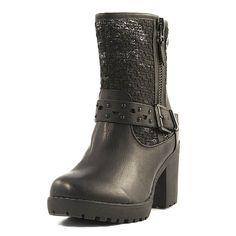 Biker, Boots, Black, Fashion, Crotch Boots, Moda, Black People, Fashion Styles, Shoe Boot