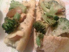 Vegan Apple, Broccoli, & Mozzarella French Bread Pizza