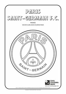 Cool Coloring Pages - Soccer Clubs Logos / Paris Saint-Germain F. logo / Coloring page with Paris Saint-Germain F. Unicorn Coloring Pages, Cool Coloring Pages, Free Printable Coloring Pages, Adult Coloring Pages, Coloring Pages For Kids, Coloring Books, Kids Coloring, Psg Logo, Football Coloring Pages