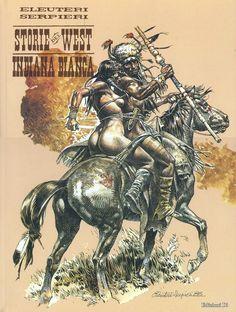 Western Comics, Western Art, Serpieri, Jordi Bernet, Heavy Metal Art, Native American Artwork, Morris, Figure Sketching, Comic Drawing