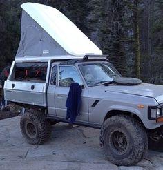 Fj62 Truck Land Cruiser Fj80, Toyota Land Cruiser, Toyota 4, Toyota Trucks, Landcruiser Ute, Adventure Campers, Expedition Vehicle, Jeep 4x4, Truck Camper