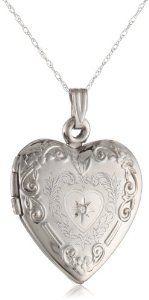"Klassics 10k White Gold and Diamond Heart Pendant Necklace, 18""  http://electmejewellery.com/jewelry/necklaces/klassics-10k-white-gold-and-diamond-heart-pendant-necklace-18-com/"