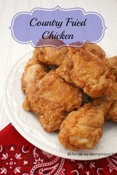 This fried chicken recipe couldn't be easier. With just three basic ingredients, and a little salt and pepper, you can have the crispiest, most delicious country fried chicken ever. Country Fried Chicken, Oven Fried Chicken, Fried Chicken Recipes, Turkey Recipes, Dinner Recipes, Yummy Recipes, Clean Recipes, Good Food, Yummy Food