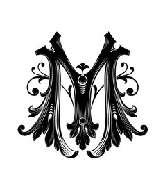 This letter is what my ideal design looks like... it's high contrast of colors make dark and intense, while the floral motifs give it an air of femininity and elegance. The design is balanced, symmetrical, and the gradient within it helps the design acquire more movement than it would have otherwise.