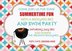Displaying 18 Gallery Images For Backyard Bbq Party Invitation