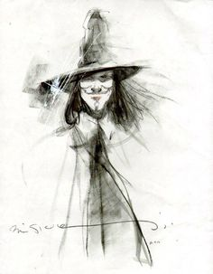 V for Vendetta by Bill Sienkiewicz *