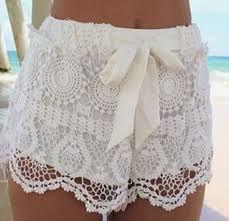 Resultado de imagen para imagenes de short tejidos a crochet