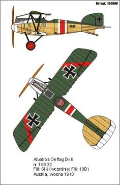 Oeffag D.III Ba.153 Unit: Flik 61J Serial: 153.32 Austria, Spring 1918. When is was served with Flik 19D the plane has a red stripe with whi...