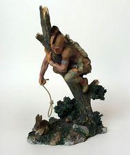 Vintage Native American hunter for rabbit figurine statuette Lot 62B