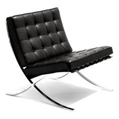 Knoll International Knoll - Barcelona® Sessel, schwarz Schwarz T:77 H:77 B:75
