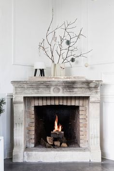 Check out this home tour for striking, modern minimal Christmas decor.