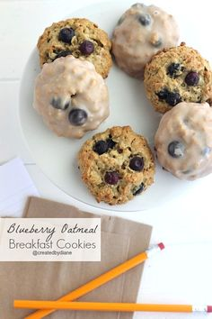 Blueberry Oatmeal Breakfast Cookies from @createdbydiane