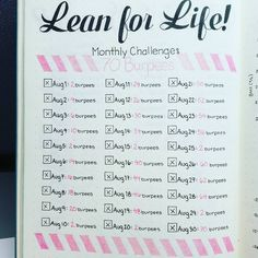 This satisfying way to track whatever challenge you're taking on this month: | 29 Bullet Journal Layouts For Anyone Trying To Be Healthy