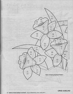 93 Applique of the month vasos de flores - maria cristina Coelho - Picasa Web Albums