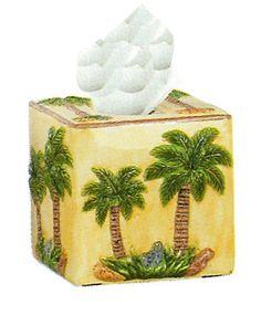 4pc tropical hawaiian palm tree kitchen canister set