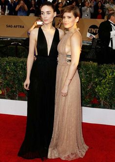 Rooney e Kate Mara no red carpet do SAG Awards 2016