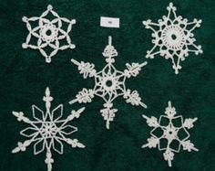 Crocheted Snowflakes - set 40
